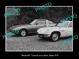 OLD-POSTCARD-SIZE-PHOTO-OF-THE-NEW-MAZDA-RX7-LAUNCH-JAPAN-1979