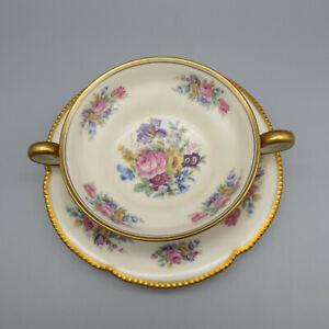 Castleton-Fine-China-Castleton-Rose-Cream-Soup-Set