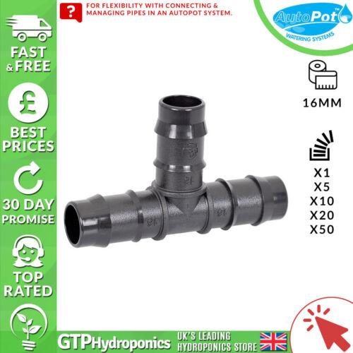 6mm//16mm//16mm-6mm GTP Hydroponics Autopot Tee Connector 1//5//10//20//50 Qty