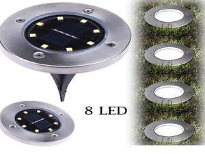 Disk lights pannello solare da giardino led sensore crepuscolare