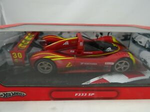 01h18 Hot Wheels # k0231 Ferrari F333 Sp # 30 Rouge / Jaune