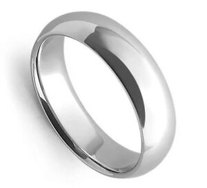 Image Is Loading Solid 14k White Gold 5 Mm Size 11