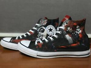 b17f2f7451e5 UNISEX USED CONVERSE DC COMICS HARLEY QUINN BLACK RED WHITE 148360C ...