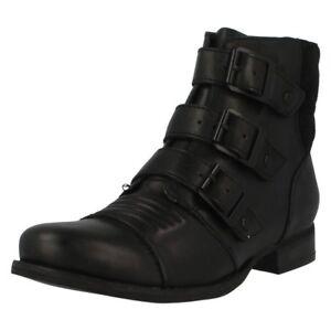 Details about Clarks Ladies Ladbroke Tango Black Leather Biker Ankle Boots UK Size 4.5D 37.5