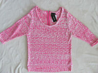 City Chic High/low Pullover Sweater- Hot Pink- Size Plus Small=16w -nwt $79