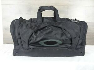 Oakley-Black-Nylon-Duffel-Bag-Gym-Bag-Travel-Vacation-Shoulder-Bag-Tote-Handbag