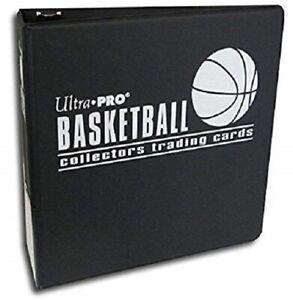 Ultra-Pro-3-Ring-Basketball-Collectors-Trading-Card-Album-Binder-Folder-BLACK