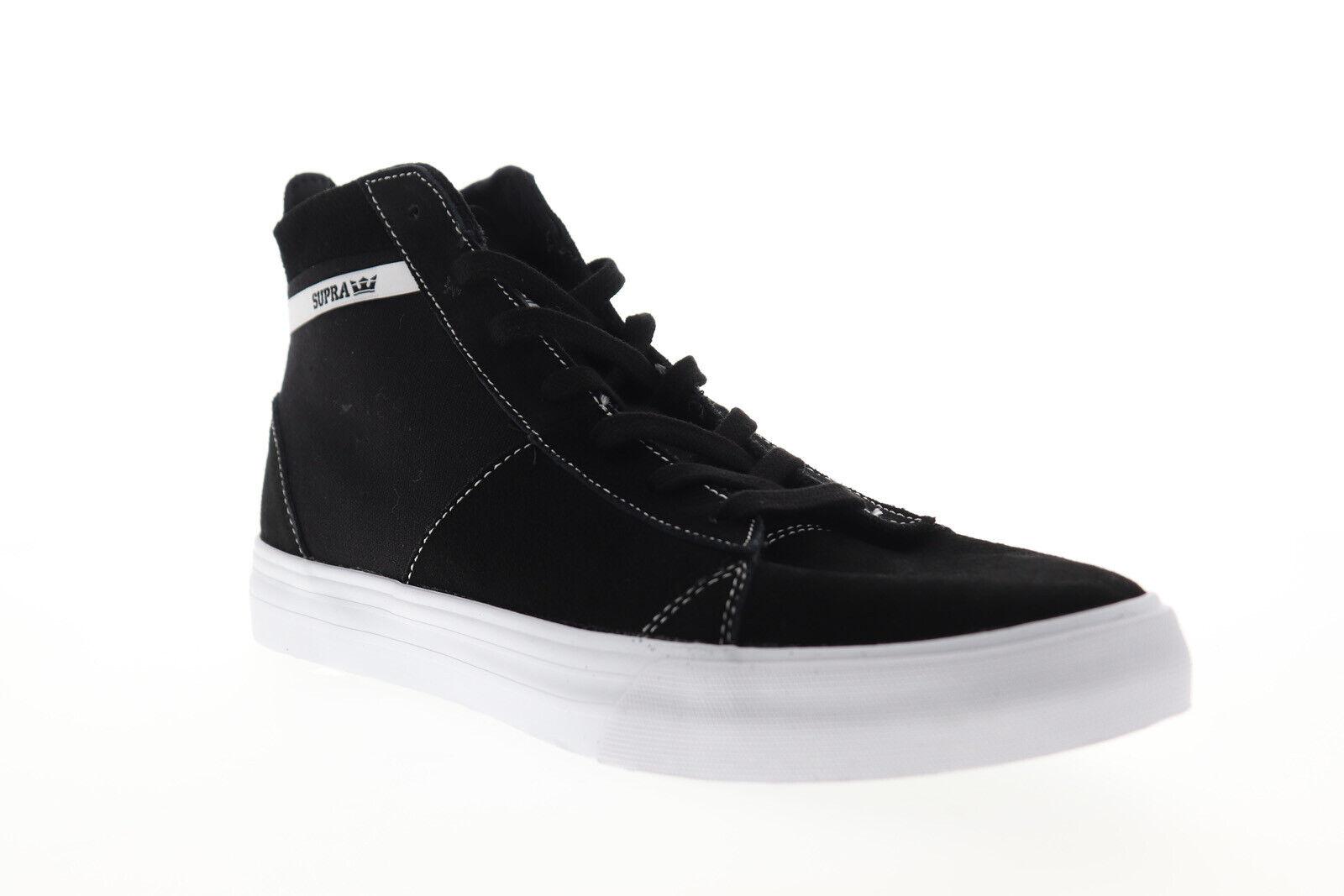 NIB Supra Ellington Black-White Athletic Sneakers Skate Skateboarding Mens Shoes