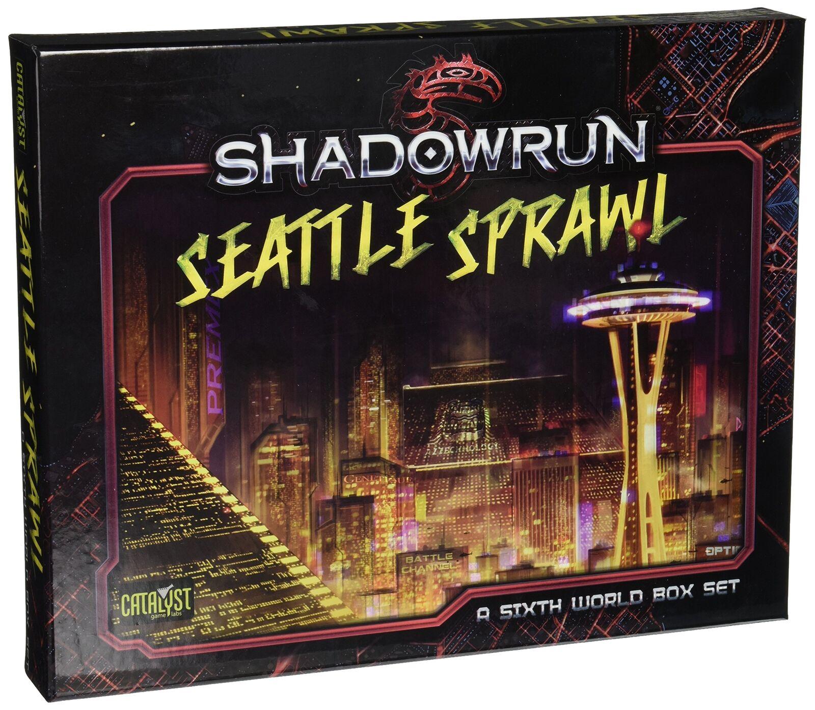 Shadowrun  Seattle Sprawl Sprawl Sprawl Box Set PSI CAT27110 Brand New cbb506