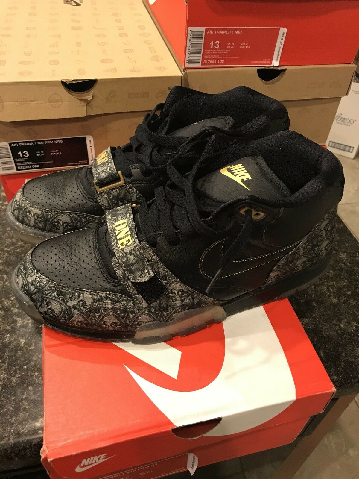 100% Authentic Worn Nike AIR TRAINER 1 MID Paid In Full Money Sz 13