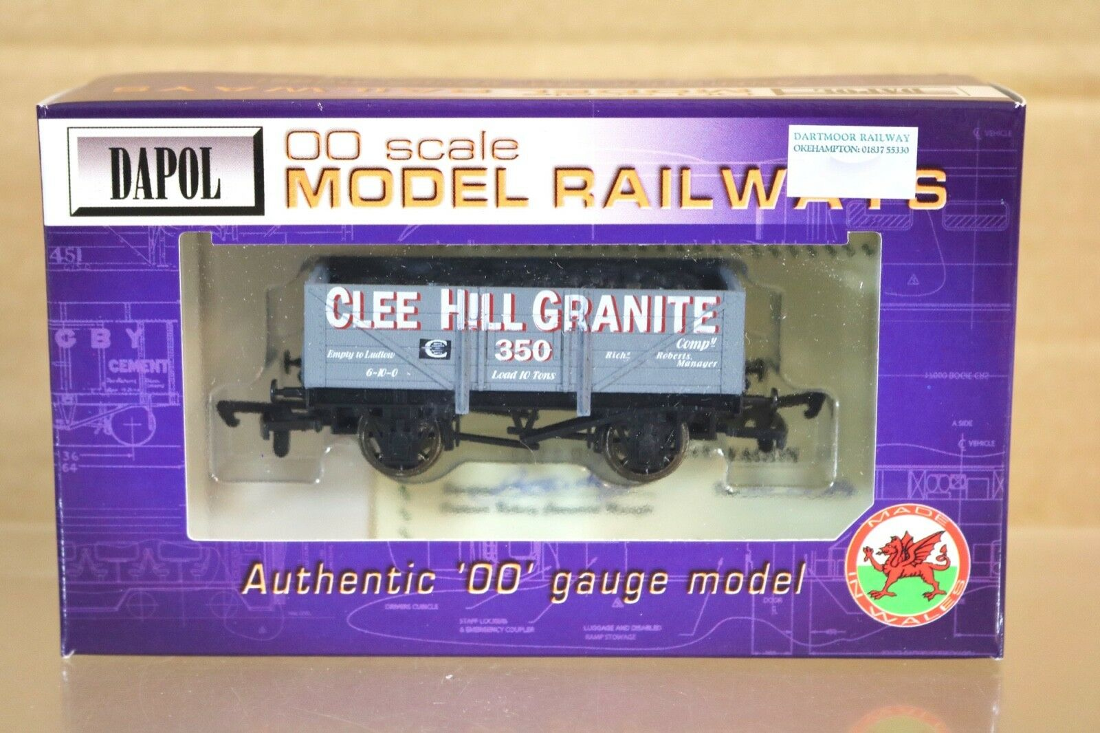 DAPOL CLEE HILL GRANITE 5 PLANK WAGON 350 with LOAD LIMITED EDITION nq