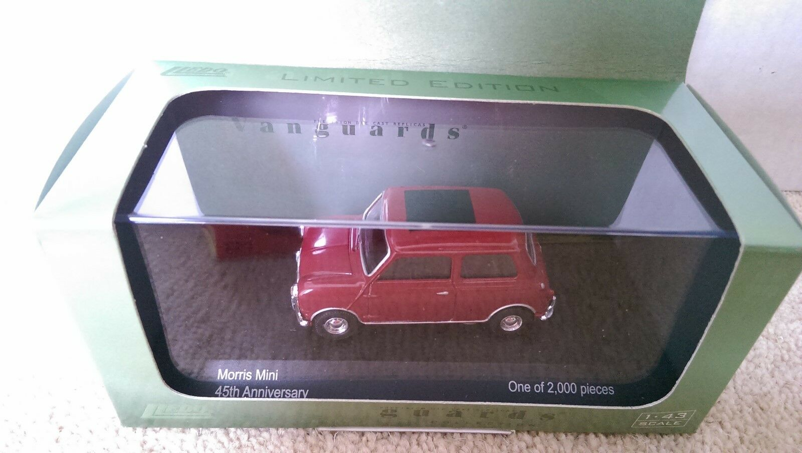 Corgi Anniversary Collection VA01309 Morris Mini Cherry Red Ltd Edition of 2000