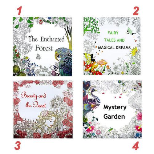 Stock Secret Garden Series Coloring Book Fantasy Dream Enchanted Forest Portable