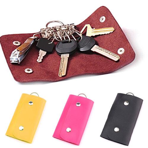 Portable Keychain Pouch Bag Wallet Card Case Purse Keyring Key Holder Keyfob