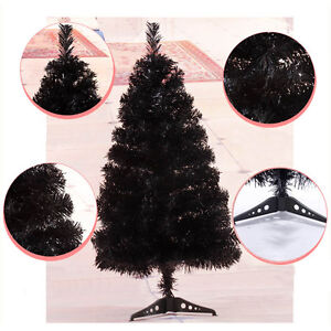 Details About 60cm 90cm Christmas Black Tree Small Decoration Tree On Desk Christmas Trees