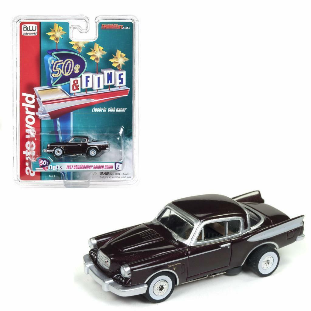 1957 Studebaker oroen Hawk-Electric ho slot car afx    auto World aprox. 1 64 OVP bef78e