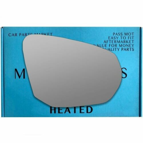 For Audi Q2 2016-On Right Driver side wing mirror glass electric
