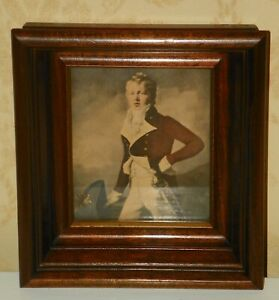 WALNUT-DEEP-WELL-GOLD-GILT-VICTORIAN-STYLE-SHADOW-BOX-PICTURE-FRAME-W-PRINT