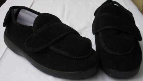 Sch16 Komfort Textil Schuhe schwarz