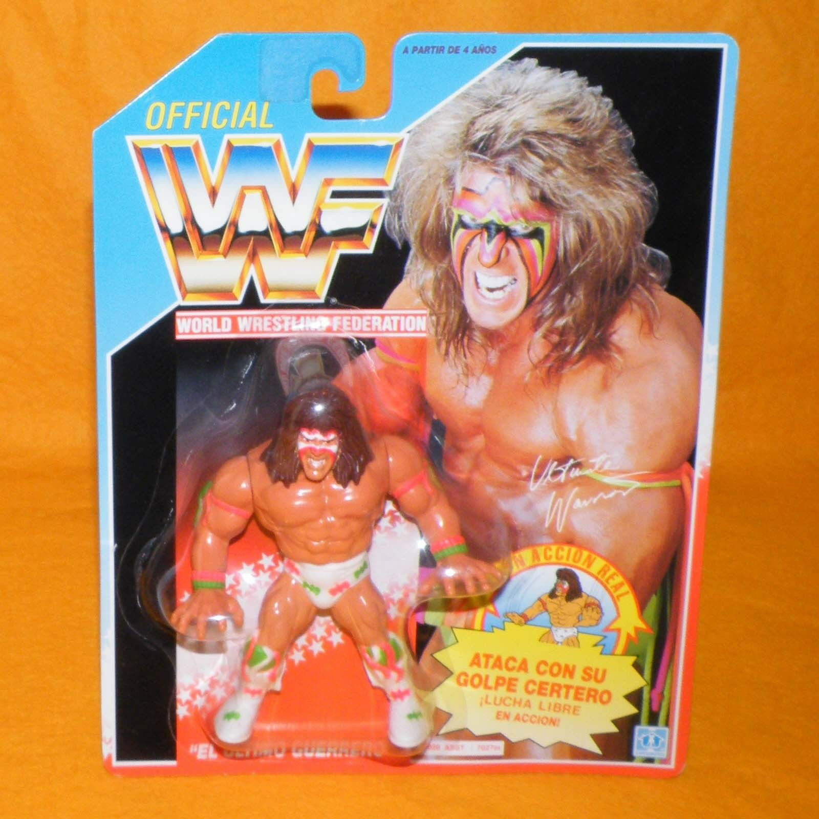Vintage 1991 HASBRO WWF serie 2 Ultimate Warrior Figura De Acción Moc Cochedada Raro