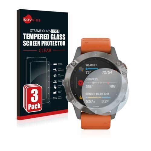 3x protección cristal blindado diapositiva para Garmin Fenix 6 pro solar de vidrio contra tanques diapositiva