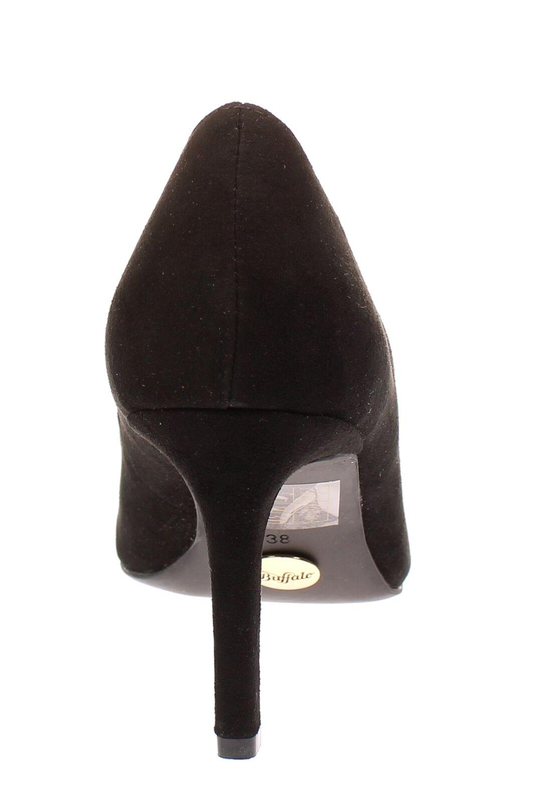 Buffalo-STIVALI h733-c002a-4 - Scarpe Donna Donna Donna Décolleté Scarpe aperte-Suede-nero | Gli Ordini Sono Benvenuti  | Materiale preferito  417b5f