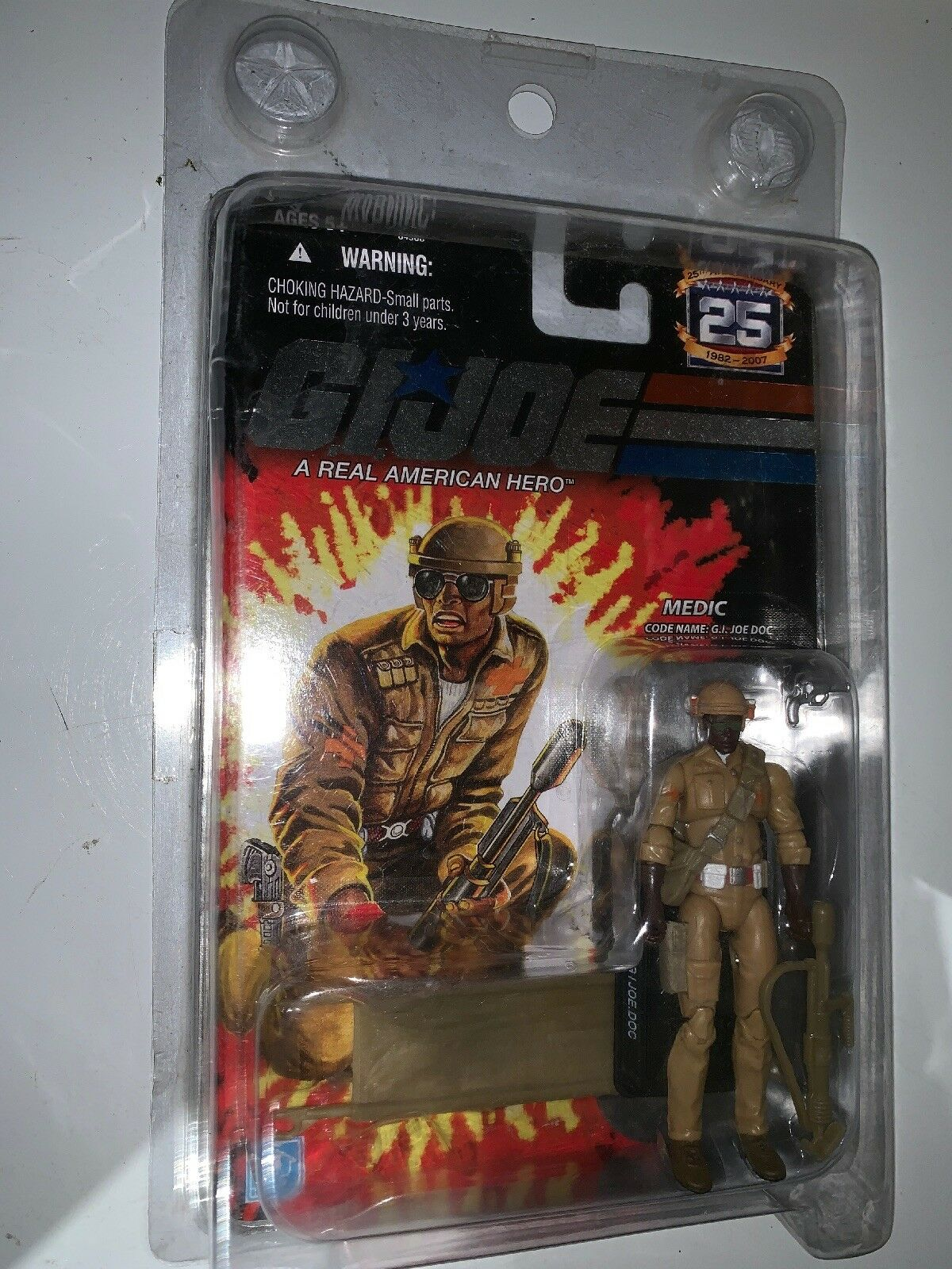 GI Joe Doc 4 azione cifra 2007 MOC Mail Away Exclusive 25th Anniversary Hasbro
