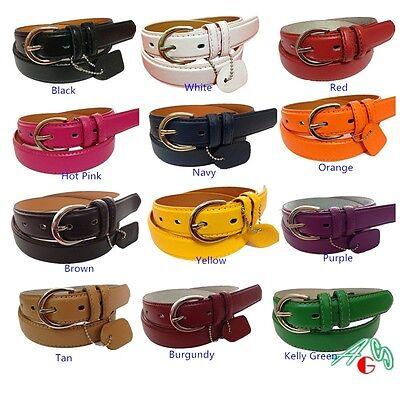 WOMEN / LADIES Skinny Leather Belt  SIZE S M L XL 2XL 3XL $4.99 Free shipping