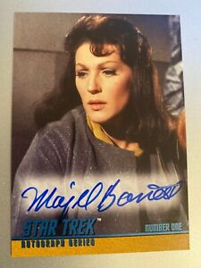 1997-Skybox-STAR-TREK-THE-ORIGINAL-SERIES-1-A25-MAJEL-BARRETT-AUTOGRAPH-Card-TOS