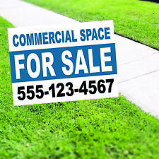 Commercial Space For Sale Plastic Novelty Indoor Outdoor Coroplast Yard Sign