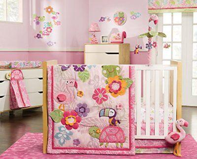 Carter S Tropical Garden 4 Piece Crib Bedding Set New Pink