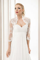 Wedding Ivory / White Tulle And Lace Bolero Shrug Bridal Jacket S M L Xl