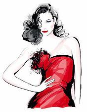Set of 5 Beautiful Fashion Model Prints A4 Posters Wall Art