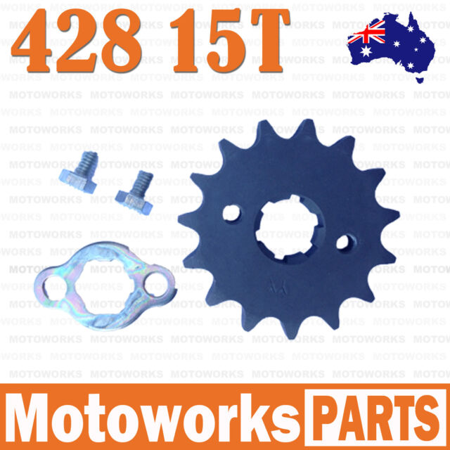 15 Teeth 428 20mm Chain Front Sprocket Cog PIT TRAIL QUAD DIRT BIKE ATV Buggy