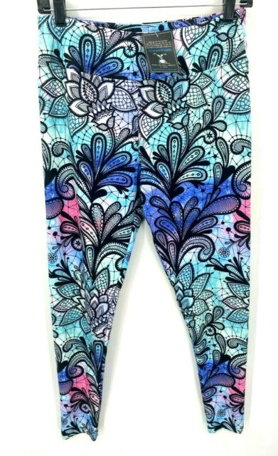 Charlies Project Leggings for a Cause Floral Ombre One Size NWT