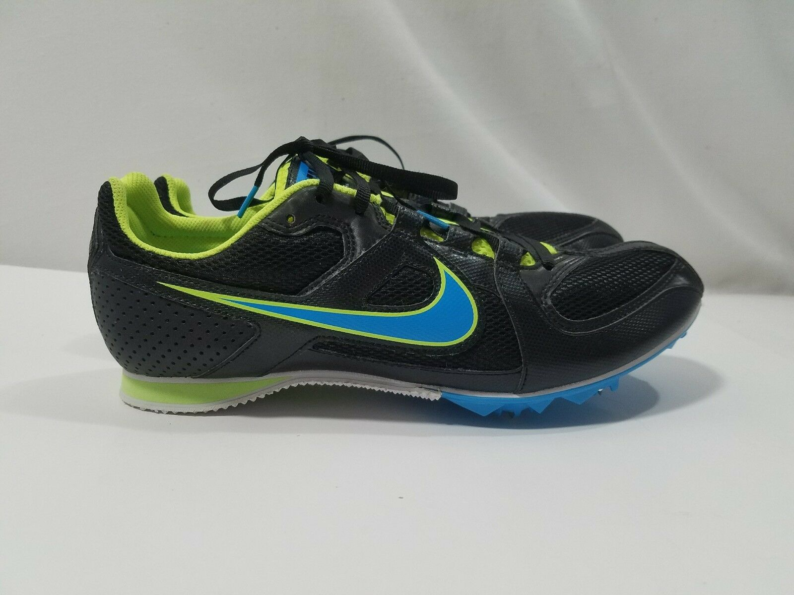 3a219057d440 Nike Rival MD Black Blue Blue Blue Cleats Athletic Track   Field Shoes  Womans