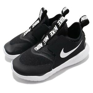 Details about Nike Flex Runner TD Black White Toddler Infant Baby Slip On Shoes AT4665 001