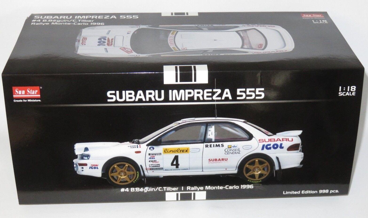 1 18 SUBARU IMPREZA 555 Igol Rallye Monte Carlo 1996 B. BEGUIN