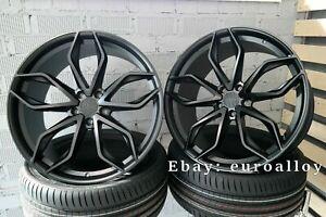 Details About 4x 21 Inch Haxer 120 Rims For Bmw 5 7 F10 F01 Concave Wheel Vossen Black Hre