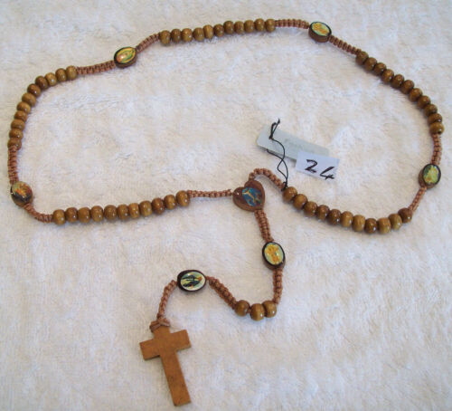 Oración del Rosario De Perlas Doble Cara de Jerusalén y Jesús Pulseras Cruz Santos Santo