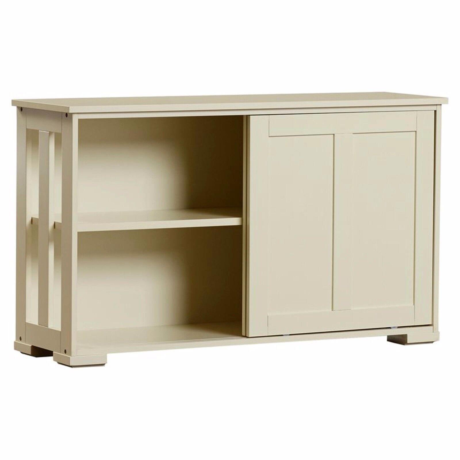 Kitchen Island White Server Storage Cabinet Wood Top ...