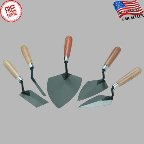 Cement Mason/'s Hand Tool Set 5PC Concrete Steel Trowel Plaster Brick Contractor