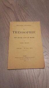1911 Revista Dos Veces Al Mes La Theosophie&son Arte En El Monde A. Besaut 12 Be