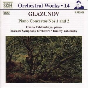A-Glazunov-Piano-Concertos-1-amp-2-New-CD