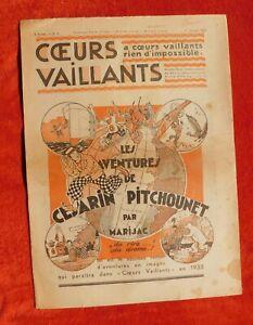 Cuori-Vaillants-1933-Lotto-Delle-N-1-con-26-Complet-Tintin-Au-Congo-in-USA