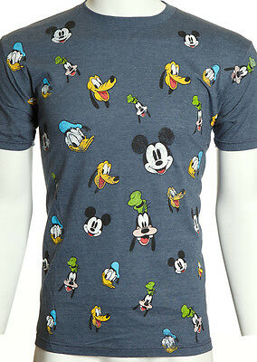 $30 DISNEY Mickey Mouse Donald Duck Goofy Pluto MOVIE CARTOON T-SHIRT TEE MENS M
