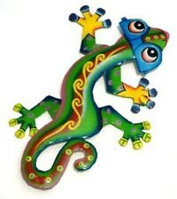 The Cool Green Gecko w/ Sunglasses Recycled Metal Wall Garden Art Deck Pool
