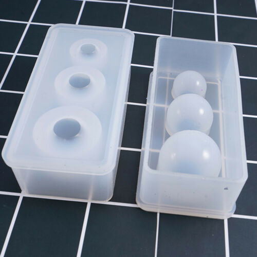 DIY Silicone Mold Craft Globe Sphere Ball Pendant For Jewelry Making Mould T CA