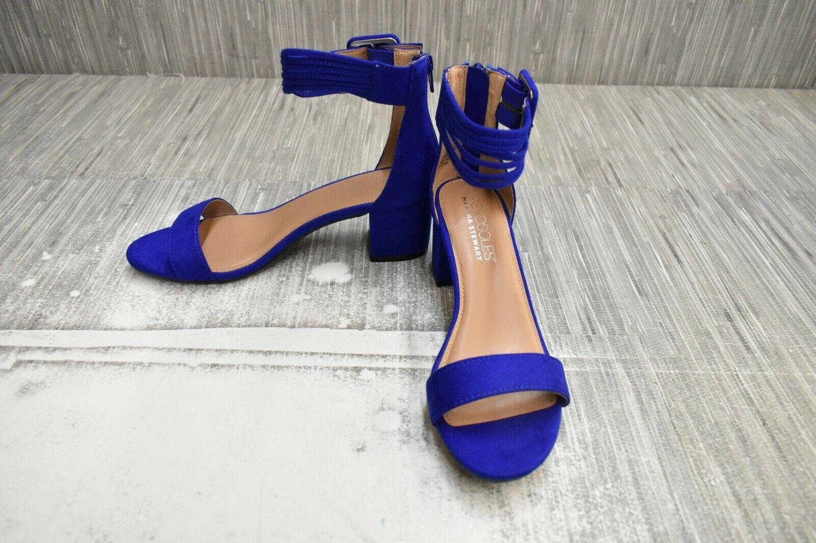 ** Aerosoles Mi Année Bride Cheville Sandale, Femme Taille 7.5 m, bleu NOUVEAU