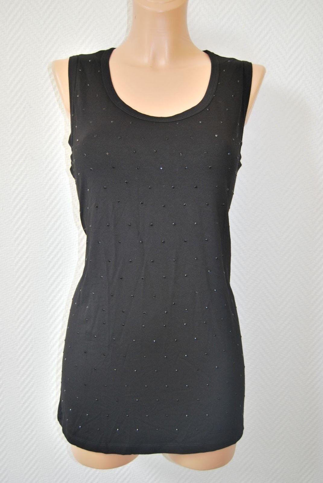 NICE Connection Top Shirt Stretch Nero Nero Nero Nuovo Taglia 42 129,- elegante d-2046 eb05c5